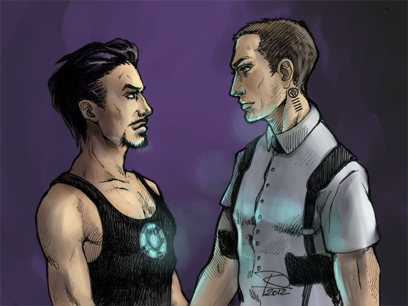 dariankite:  Tony Stark/Remy (Repomen)  I quite like this pairing if I'm honest :3 After all, Judesie and Robert do go well together anyway :} xxx