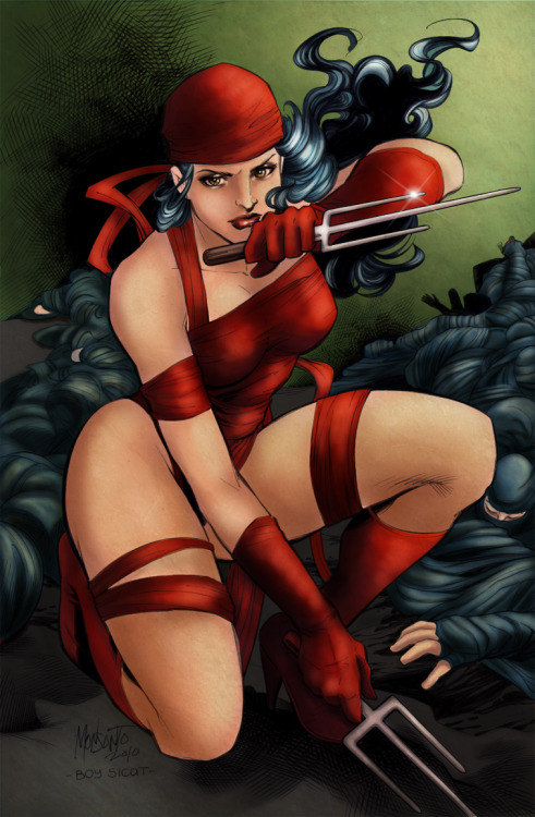 comicsforever:  Elektra // artwork by Gilberto Monsanto, Alejandro Sicat and Sari Sariola (2010)