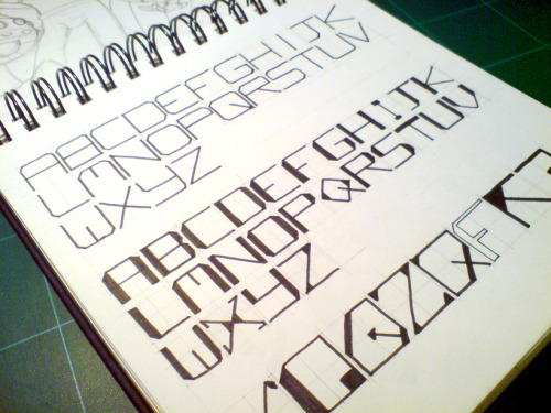 Block type experiment from sketchbook.