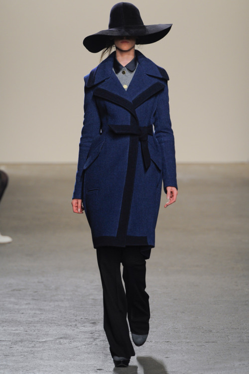 nickelcobalt:  thebengalstripe:  Billy Reid Fall/Winter 2012  the only look i liked from head to toe. some great luxe pieces throughout the collection though.