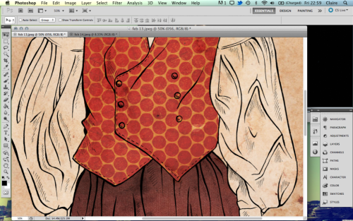 Preview of an illustration for Amelia's magazine.