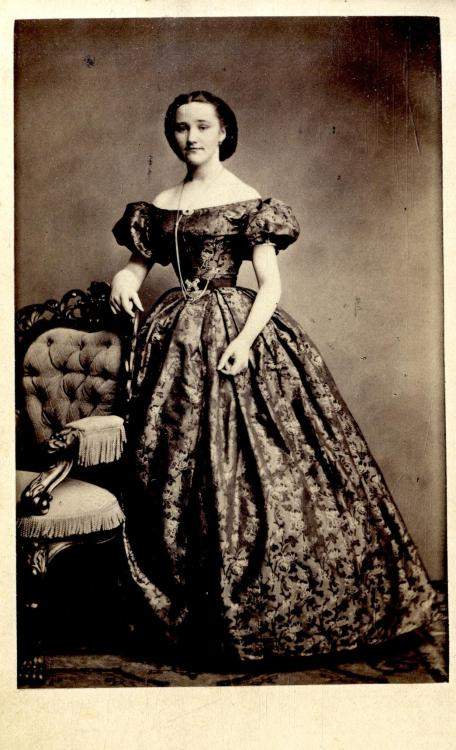 "oldrags:  Portrait of Eleonore ""Felicie"" Bull, ca 1863 Norway (Oslo)"