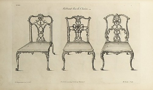 sylvanus-urban:  Ribband back chairs, from The Gentleman and Cabinet-maker's Director by Thomas Chippendale, 1754