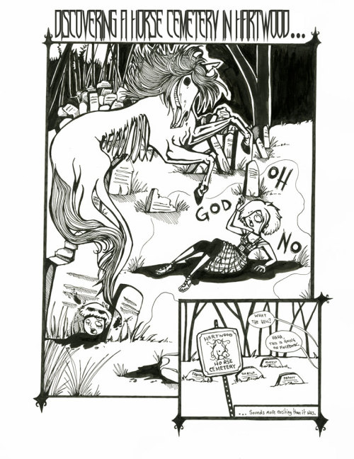 Expanding the Graphic Novel Exercise #2: MEMORY those pesky ghost horses gettin' all up in my business Caitlin Rose Boyle