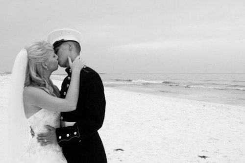 me and my husband on our wedding day, marine style ;) this actually has quite a few notes!….for me at least lol