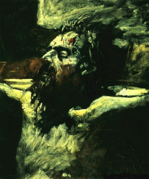 """Head of the Crucified Christ"" Nikolai Ge"