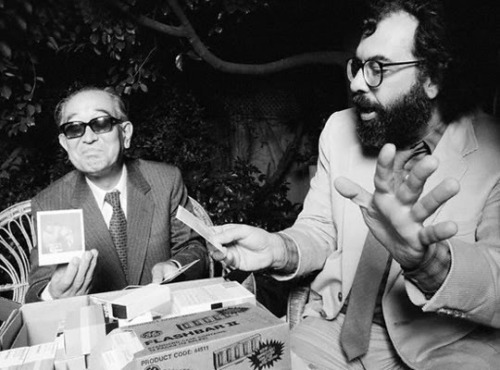 asian-films:  Akira Kurosawa with Francis Ford Coppola