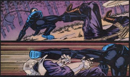 nooowestayandgetcaught:   —Nightwing #3 (1995)  This has been a buttspam.