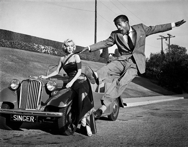 Marilyn Monroe and Sammy Davis Jr.