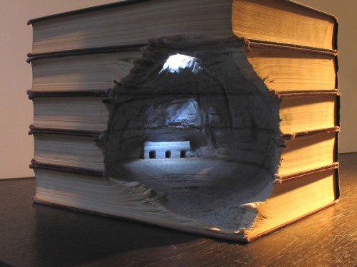 Carved Book Landscapes by Guy Laramee From my favorite art blog.