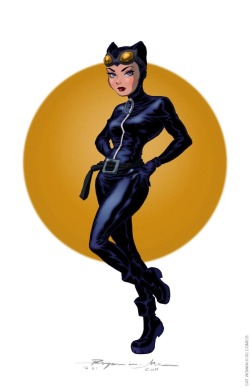 monotonae:   CAT WOMAN c. 2002 Art © Bryan Mon. Cat Woman © DC Comics. Conceptual sketch: http://monotonae.blogspot.com/2012/02/cat-and-kara.html