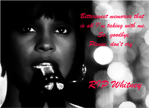 RIP Whitney Houston!!! Another talent gone too soon!