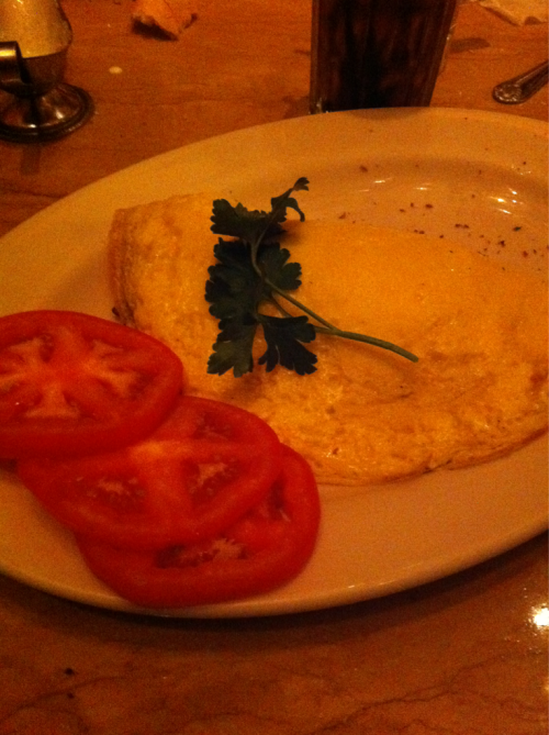 Cheesecake factory dinner - I got an Omelette!