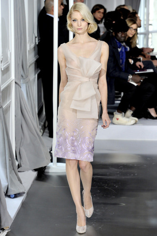 Sheer done right. Dior couture, spring 2012.