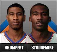 Separated at birth? Iman Shumpert and Amare Stoudemire.