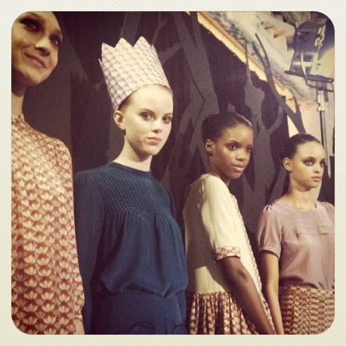 calivintage:  paper crown at rachel antonoff fall 2012.