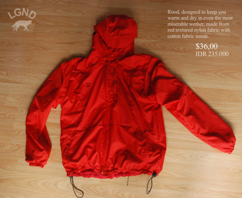 "lgndspace:  LGND ""rood"" outerwear avaliable now"