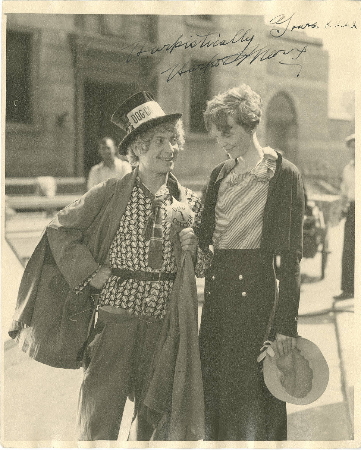 awesomepeoplehangingouttogether:  Harpo Marx and Amelia Earhart