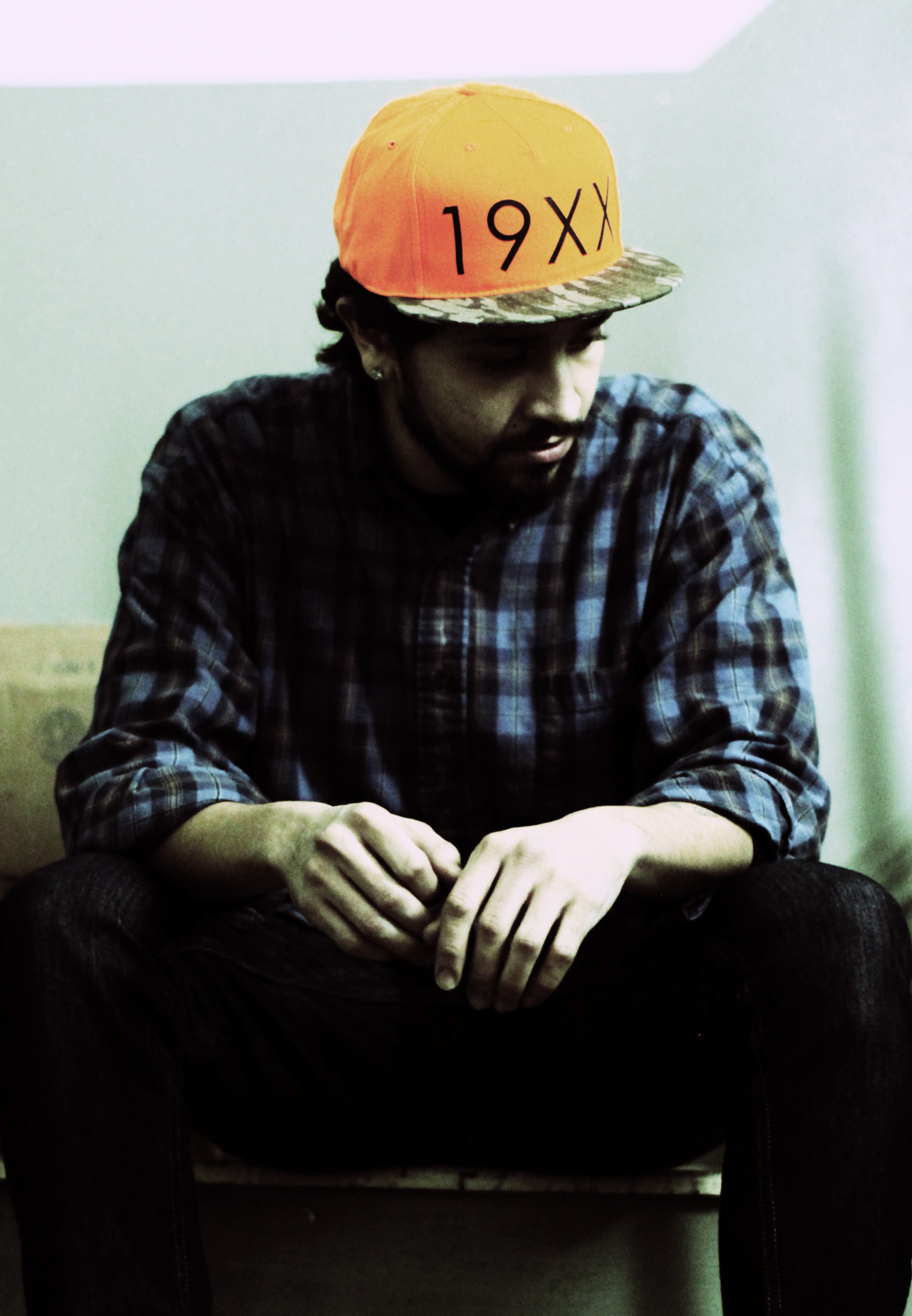 """19XX"" … DJ Scatterbrain repping the Decades Hat Co., NYC"