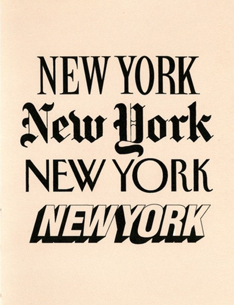 NYC in type