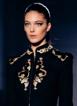 Katryn Kruger at Jason Wu Fall 2012 by Billy Rood