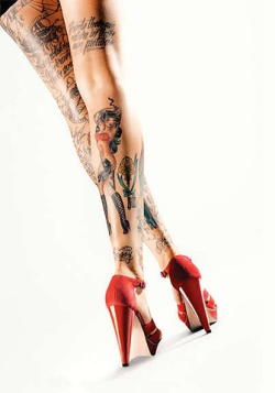 I usually dislike leg tattoos, but I guess if you are going to pull them off this would be the way.