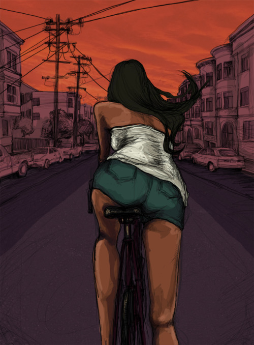 Biking. By me.