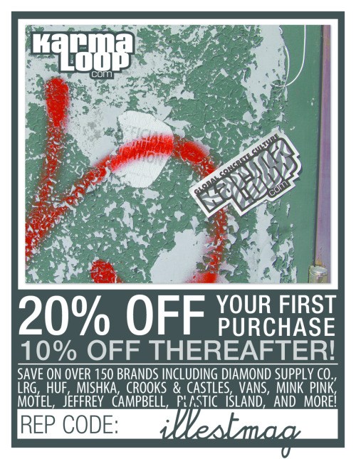 Save 20% when you shop at Karmaloop! (click picture to redirect to karmaloop.com)
