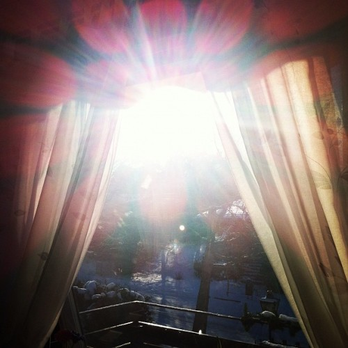 Snow and sun shining ❤ #winter #snow #sweden #swedishwinter #2012 #february #sunday #ig #like #follow #photography #filtered  (Taken with instagram)