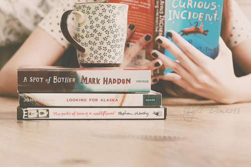 To Read List: ❒ Looking for Alaska ❒ The Perks of Being a Wallflower ❒ Thirteen Reasons Why ❒ The Book Thief