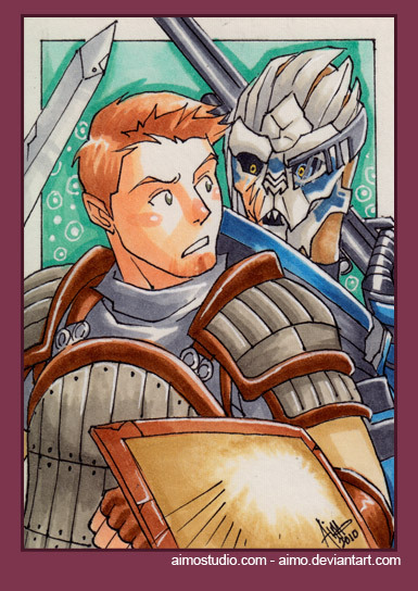 PSC - Alistair and Garrus by *aimo