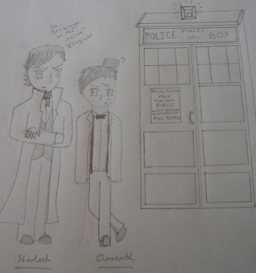Doctor / Sherlock crossover. Not the best, but I don't care.