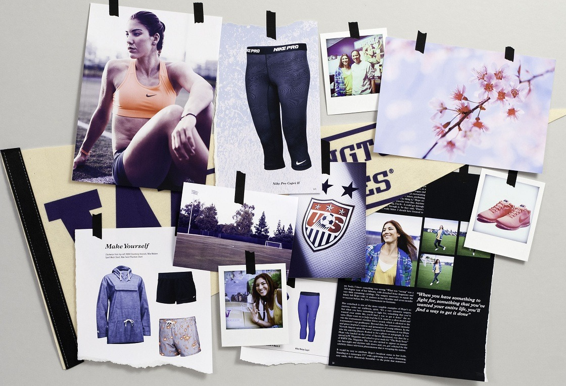 "Nike Women - Hope Solo Moodboard Along those lines, over the next week Nike Women will share a bit more about some of the athletes who both represent both camps, covering the ""life, work, dreams, goals, inspiration, and style"" of women like surfer Laura Enever, soccer players (and internationall recognized individual) Hope Solo, javelin thrower/model Leryn Franco, sprinter Jodie Williams, hurdler Perry Shakes-Drayton, and gymnast (and, along with Solo, Dancing with the Stars alum) Shawn Johnson."