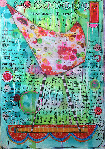 artjournaling:  Coming or going (by thekathrynwheel)
