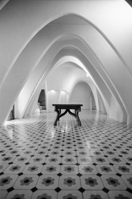Casa Batlló on Flickr.Via Flickr: Barcelona.  Nikon FM2n | Nikkor 20mm f/2.8 AF-D | Ilford Delta 400
