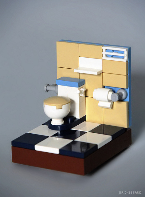 LEGO toilet by Bricksbeard on Flickr.