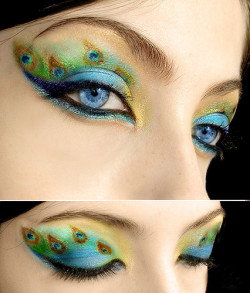 Peacock Make up; so freakin beautiful!