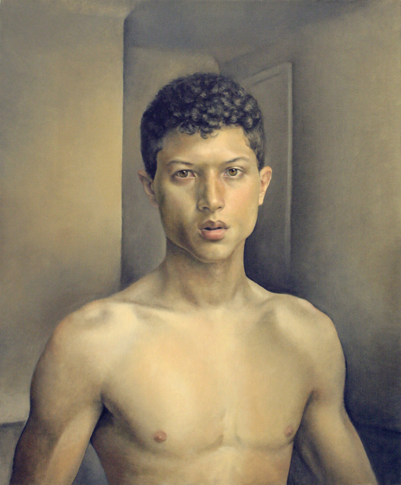 "Xavier Robles de Medina, Self-portrait, Oil on linen, 25"" x 30"" Facebook       Blogspot       Tumblr"