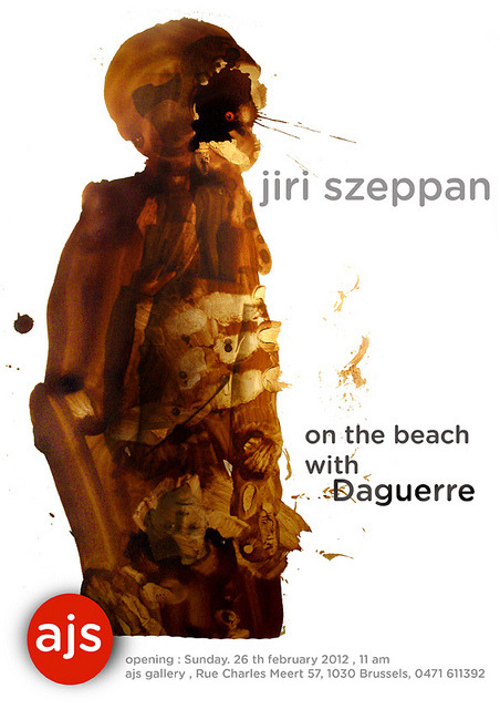 on thebeach poster ajs jpg klein by jiri-szeppan on Flickr.Haunting & meaningful paintings, book arts, objects by Jiri Szeppan , 11 a.m. 26 February 2012 at AJS Gallery, 57 rue Charles Meert, Brussels 1030 tel 0471 611392