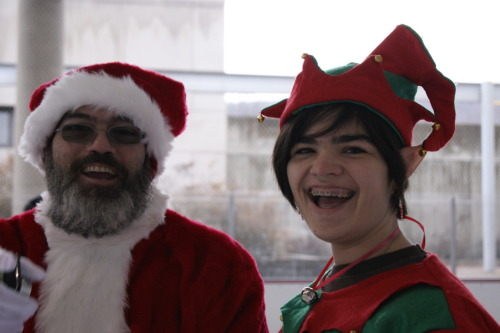 This is me with my dad. I really like being an elf. Sorry anon, my battery died and I don't have my charger so I can't take a new picture. I'll give you a more recent one on Thursday when I get my charger back. Being the person usually holding the camera, pictures of me are few in number.