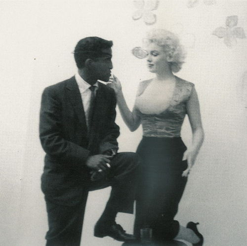 normajeanemonroe:  1955: Marilyn with Sammy Davis Jr.