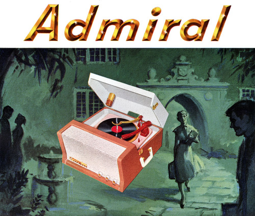 """America's most powerful portable hi-fi!"" Admiral, 1957"