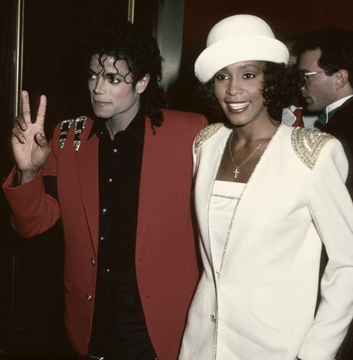 Photograph (1988) Michael Jackson + Whitney Houston Michael Jackson + Whitney Houston @ the United Negro College Fund dinner on March 10, 1988 in New York. Click here to view more of Michael + Whitney. Photo Source: TimeLifePictures.com + DailyMail.co.uk