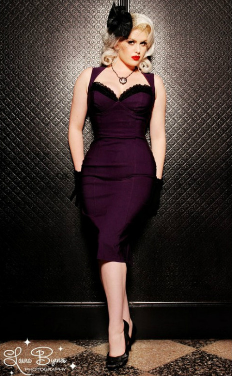 """The Masuimi Dress in Deep Plum"""