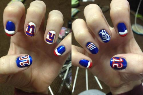 Belated, but superbowl nails.