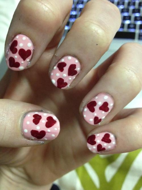 More Valentine's nails…a bit more to the point.
