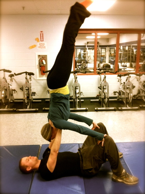 me and my bro fooling around at the gym!
