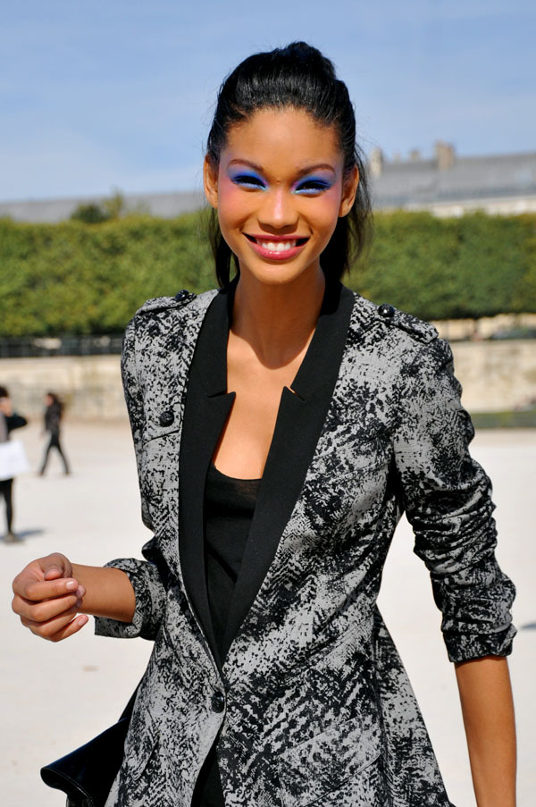 Love this photo of Chanel Iman!