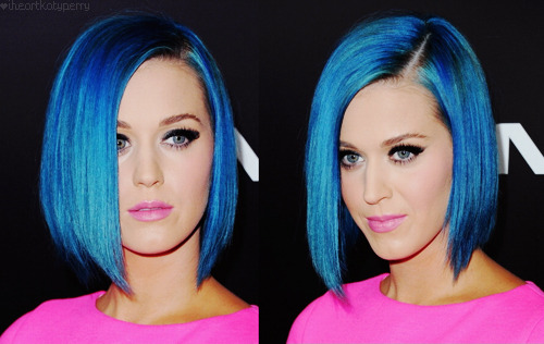 I wish I could look this good with blue hair! Smhh