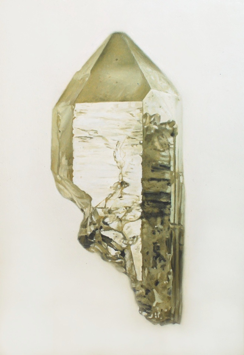 (via smokyquartz2ZOOM) Smoky Quartz 2, 2009  ~  oil on masonite